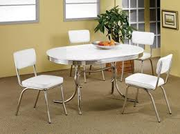 50s style kitchen table 2 tone oval dining tables and chairs 50 s style oval chrome retro