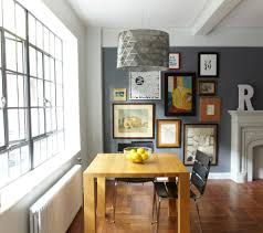 dining room gallery wall dining room transitional with framed art
