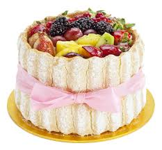 special occasion cakes exotic fruit gateau finished with