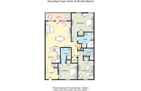 St Thomas Suites Floor Plan by Club Wyndham Wyndham Dye Villas Myrtle Beach