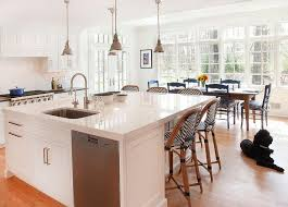 Large Kitchen Island Large Kitchen Island With Black And White Bistro Chevron Stools