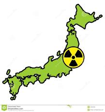 Fukushima Radiation Map Radiation Sign On Map Of Japan Stock Photo Image 19200500
