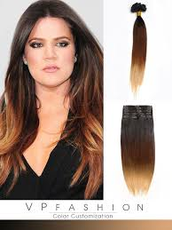 vp hair extensions three colors ombre clip in hair extensions m1b3027 m1b3027
