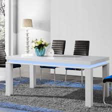 Gloss Dining Tables Lenovo Dining Table In White High Gloss With Led Lights Finish