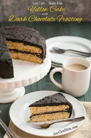 dark chocolate frosting on yellow cake recipe low carb yum