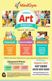 now open summer art workshop for kids mindgym philippines