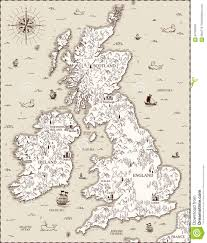 English Channel Map Vector Old Map Great Britain Stock Vector Image 84709340