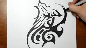 tatoo design tribal how to draw a tribal wolf tattoo design sketch 2 youtube