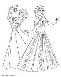 elsa anna coloring frozen anna coloring free