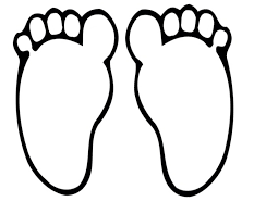 foot print clipart the cliparts databases