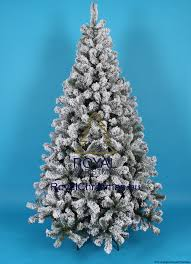 snow artificial christmas tree promo frosted pine natural