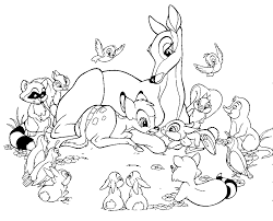 cartoon disney character bambi coloring pages womanmate com