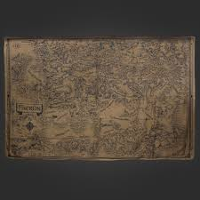 Faerun Map Welovefine Dungeons U0026 Dragons D U0026d Map Scarf