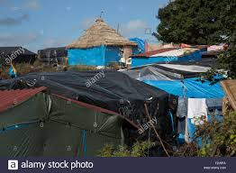 Camp Style An African Style Thatched Hut Built By Refugees In The Jungle Camp