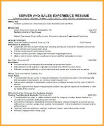 Cocktail Server Resume Waitress Resume Template Word Pic 1 U2013 Inssite