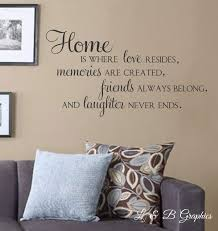 Home Is Where Love Resides Memories Are Created Vinyl Wall Decal - Family room quotes