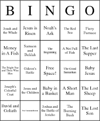 christian for children children s bible stories bingo card