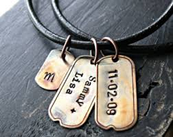 Personalized Mens Necklaces Mens Rustic Etsy