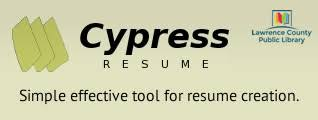 Cypress Resume Builder Mesmerizing Cypress Resume 12 Guernsey County Public Library Page