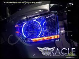 Tundra Led Lights 14 16 Toyota Tundra Led Dual Color Halo Rings Headlights Bulbs