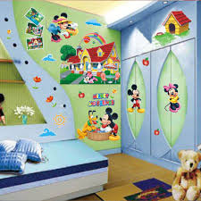 3d mickey mouse clubhouse wall stickers kids bedroom decor decal