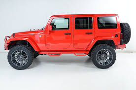 jeep red 2017 2017 used jeep wrangler unlimited one owner new lift wheels tires at