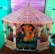 Mandir Decoration At Home Thermocol Decorative Temple 4 Steps With Pictures