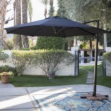 Sun Umbrella Patio Outdoor Cantilever Patio Umbrella With Base 11 Foot Cantilever
