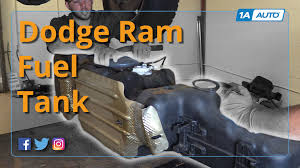 how to remove and reinstall 26 gal gas tank 2008 dodge ram 1500
