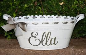 Oval Party Beverage Tub by Personalized Scalloped Oval Metal Tub Ice Bucket Party