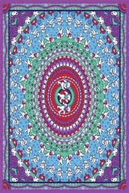 Grateful Dead Curtains Dead Purple Bears Tapestry 60x90