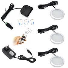 wireless led under cabinet lighting aiboo wireless led under cabinet puck lights 3 ls rf dimmer and