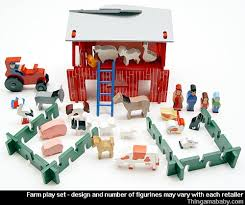Toy Barn With Farm Animals Review Old Fashioned Farm Play Set Thingamababy
