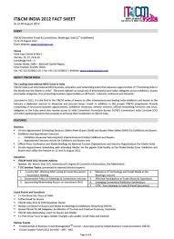 Event Fact Sheet Template It Cm India 2012 Event Fact Sheet