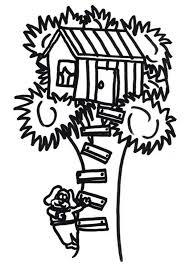 dog house coloring pages a dog climb a treehouse coloring page color luna