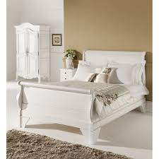 White King Single Bedroom Suite Leather Sleigh Bed Frame With Regard To Really Encourage Design