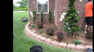 how to lay landscaping bricks around a tree fast easy tree mulch