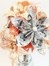 bouquet en papier origami wedding bouquets origami peonies and rose bud bridal