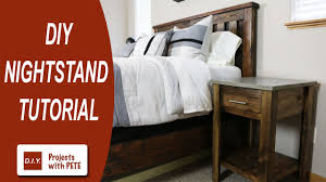 Bedroom Nightstand Ideas How To Make A Nightstand Diy Nightstand Concrete Nightstand