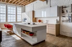 table haute ilot central table haute avec rangement pour cuisine décoration de maison