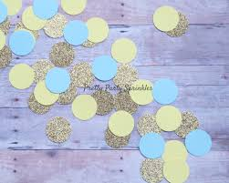 Blue And Gold Baby Shower Decorations by Boy Baby Shower Decorations Yellow Blue And Gold Confetti