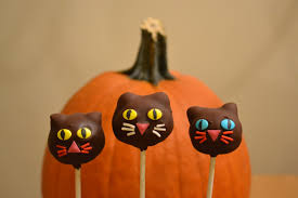 growing up veg pumpkin and cat halloween cake pops