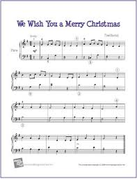 we wish you a merry easy sheet for piano http