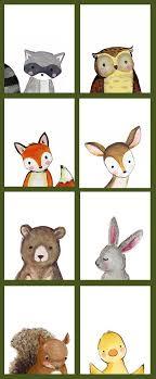 Woodland Animals Nursery Decor Woodland Animal Nursery Decor Fox Deer Raccoon Owl Bunny Emily