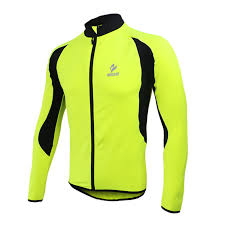 fluorescent cycling jacket wolfbike tour de france cycling windproof long sleeve jersey