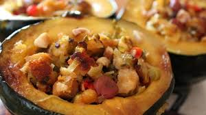 the ultimate vegetarian thanksgiving baked acorn squash with