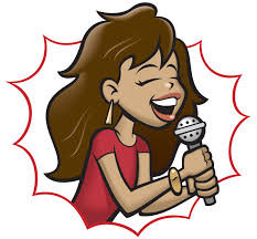 singer clipart stock vector singing with microphone vector