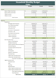 Monthly Spreadsheets Household Budgets by Sle Household Budget 8 Documents In Pdf Word Excel