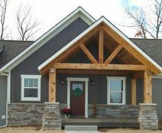 gorgeous front porch wood and stone columns home exteriors