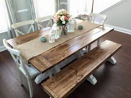 Wood Dining Table With Bench And Chairs Farm Table Design Ideas U2013 Beautiful Solid Wood Dining Tables